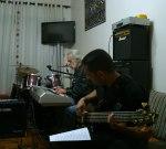 Marcos Cabral (no baixo) e José Paulo (no teclado)